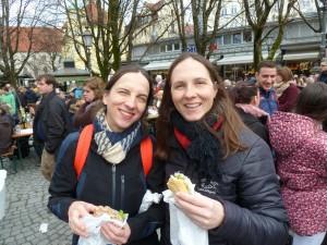 Besuch bei Anja's Schweister in Bayern - hier auf dem Viktualienmarkt in München